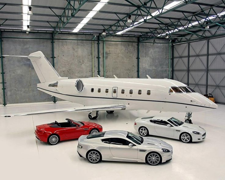 2 private jets and cars