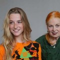 Aurore Morisse (modelling the tree-shirt) & Dame Vivienne Westwood