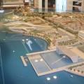 A scale model of Saadiyat Island in Abu Dhabi United Arab Emirates