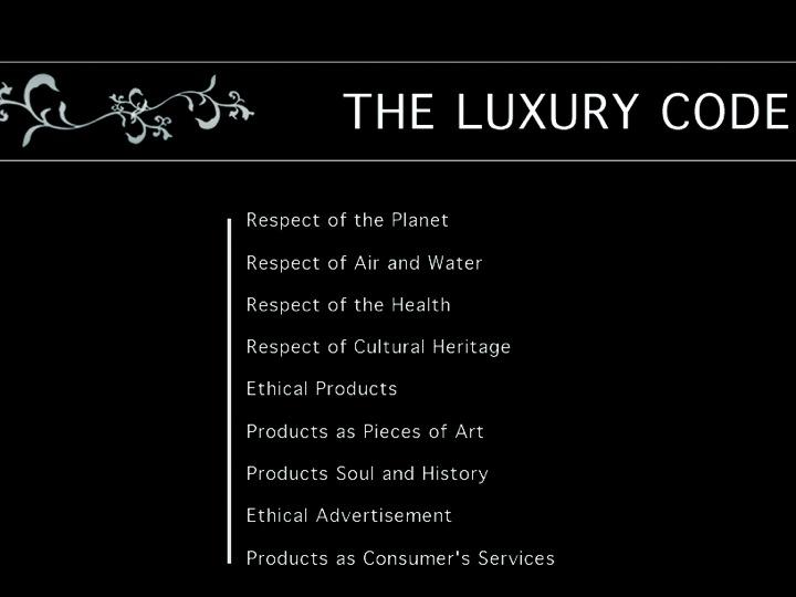 Le nouveau code du luxe