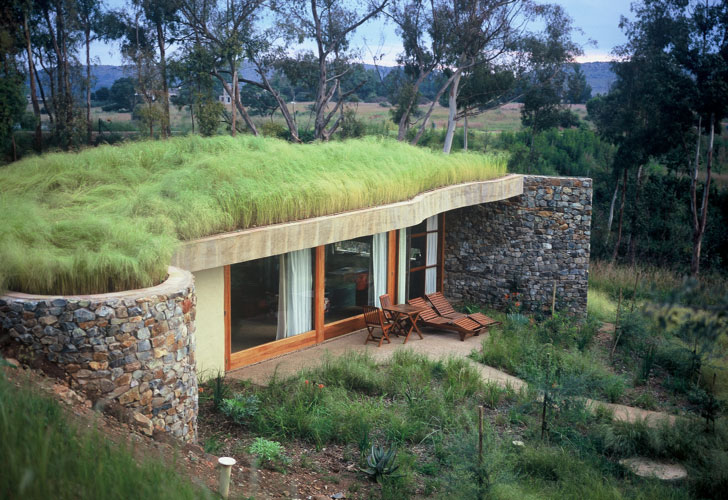 Grass Roofed Home Built Into Slope Uses Hillside For Cooling as well Over 1000 Sq Ft as well Wonderful Earth Sheltered Greenhouse additionally Outpost By Olson Kundig Architects in addition Steel Bunkers for Sale. on partially underground house plans