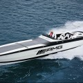 Black Series 50' Marauder Cigarette boat, inspired by the C63 AMG Black Series