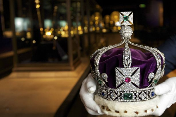 The Imperial State Crown of India with 6000 diamonds
