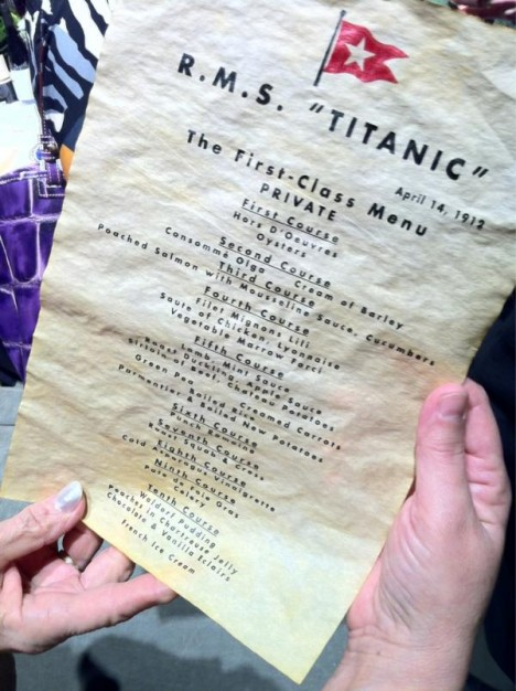 Titanic 39 S Last Lunch Menu Sold For 91 000 Euros At 100th