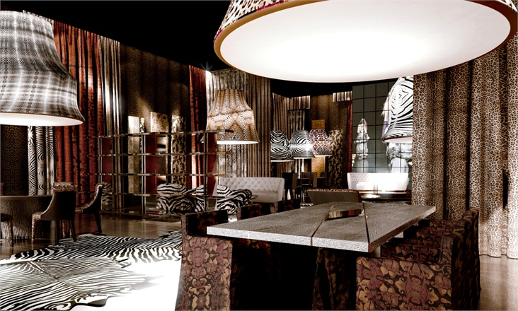 """The Roberto Cavalli Group expanded the """"Home"""" sector, offering"""