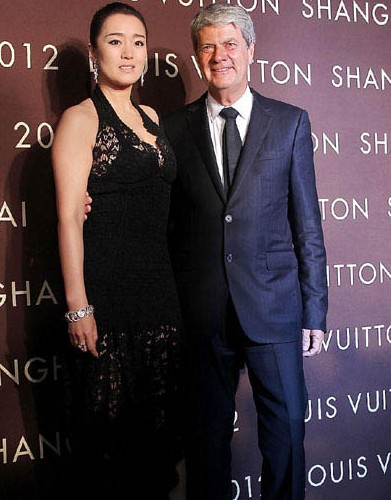 Actress Gong Li and Louis Vuitton Chief Executive Yves Carcelle