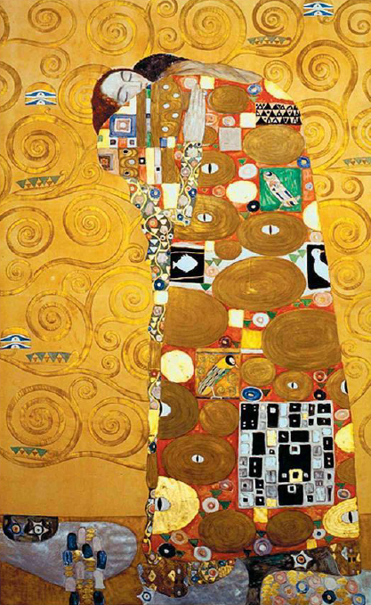 Fullfilment or Embrace Klimt 1909 Vienna