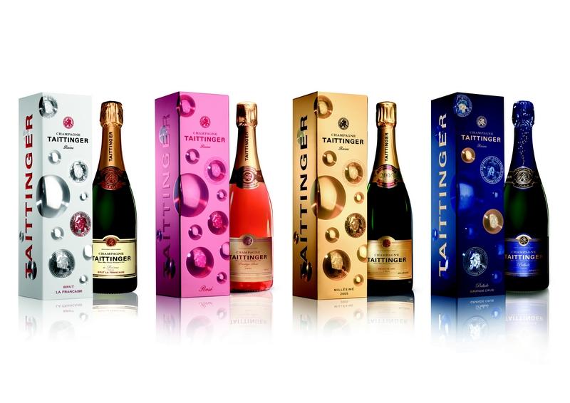 Champagne Taittinger Bubbles Hologram effect 2LUXURY2COM