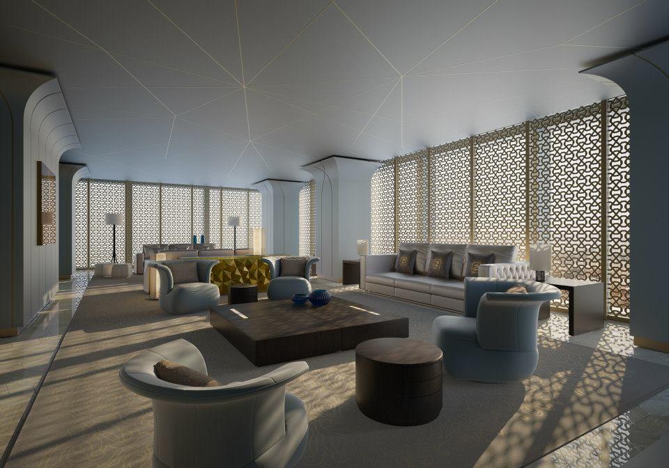 Interior design by fendi casa the dubai project for Indoor design dubai