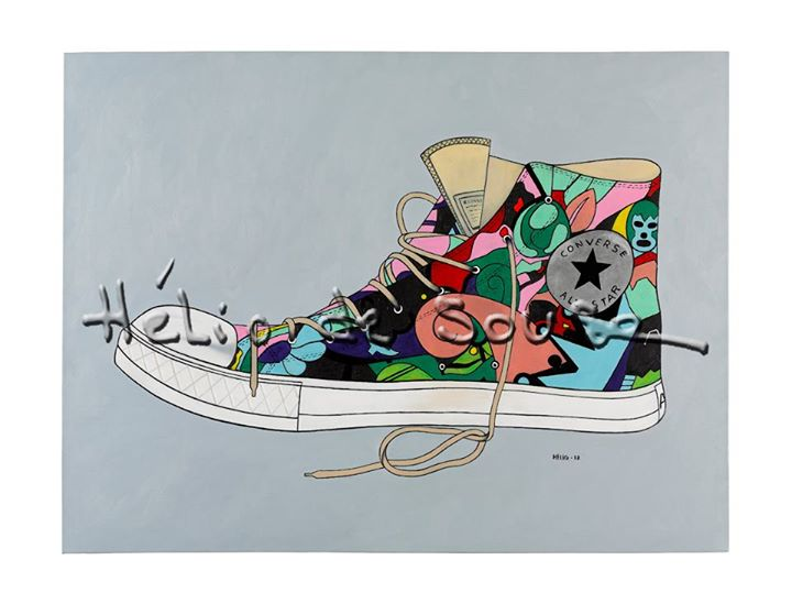 New version of All Star Shoe has Soul Oil on canvas for Michael Giordani Shoe has soul