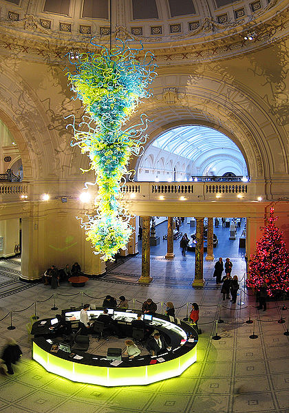 Amber And Gold Chandelier By Dale Chihuly The First