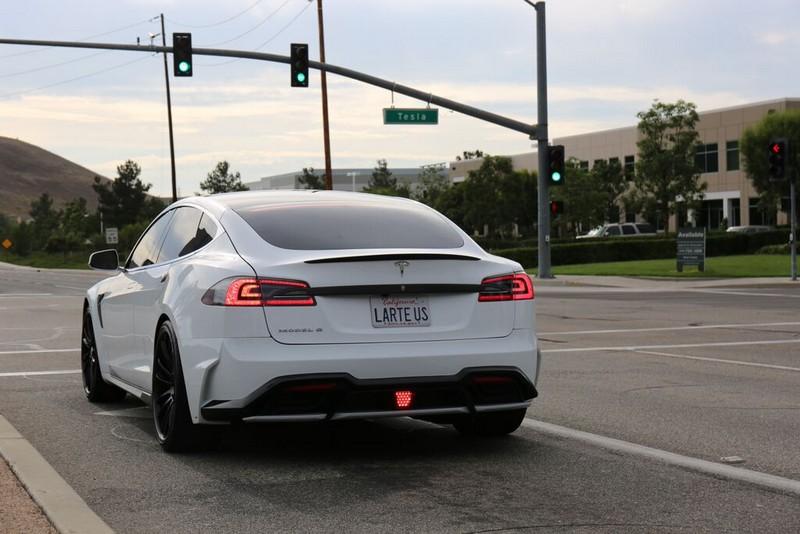 2015 custom tuning kit for Tesla Model S by Larte Design  - white version-