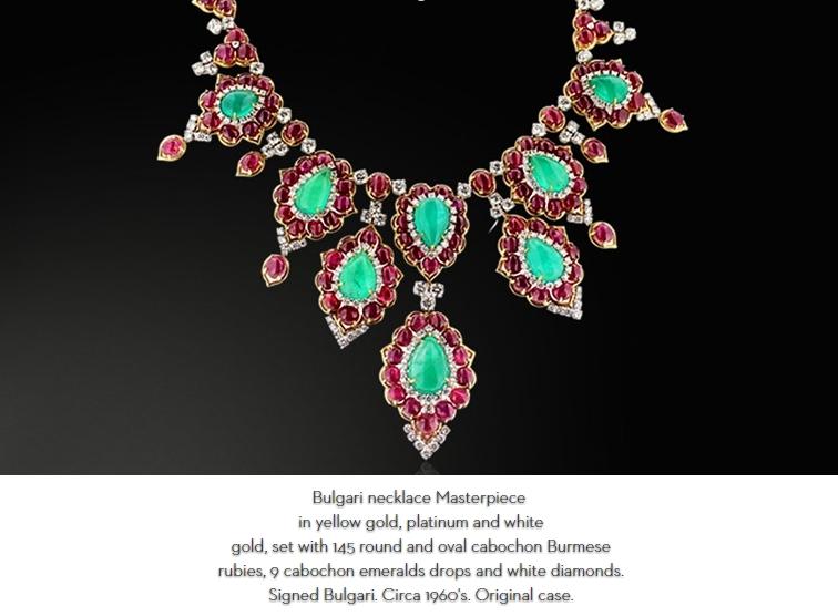 2016 Biennale des Antiquaires-jewellery-HD Rare and Unique Bvlgari Masterpiece necklace