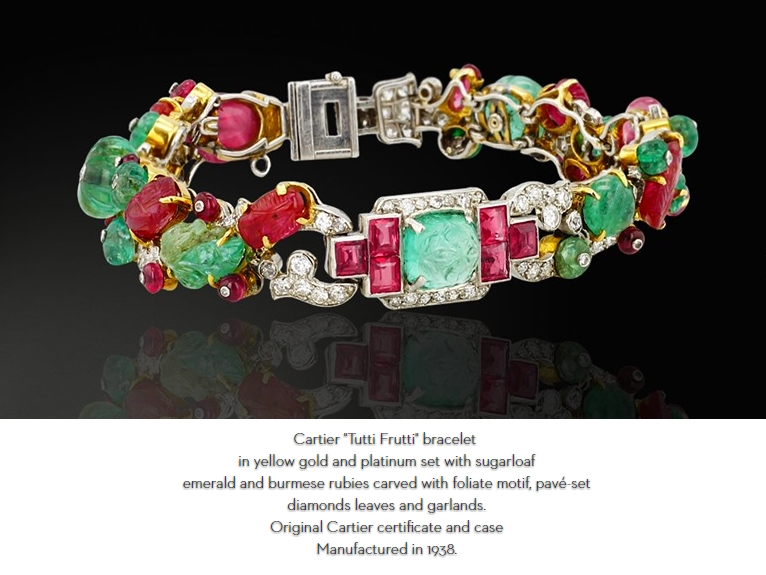 2016 Biennale des Antiquaires-jewellery-HD Rare and Unique Cartier tutti frutti