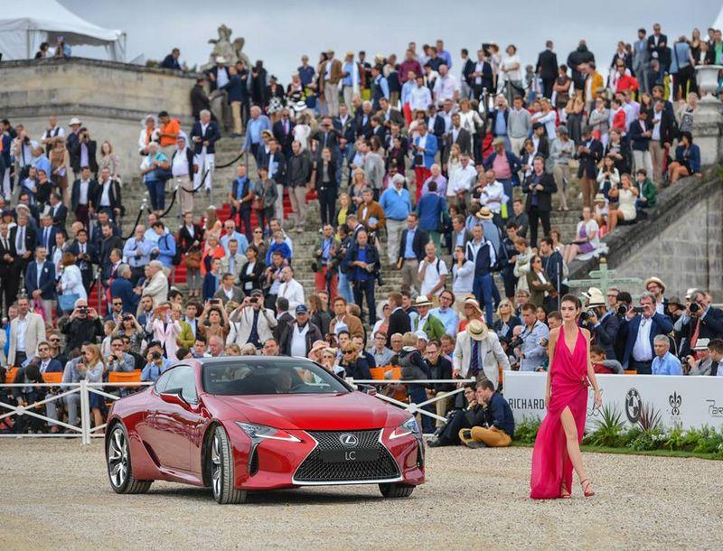2016 Chantilly Arts & Elégance Richard Mille at Chantilly, Oise, France-Concept-Car  Lexus LC 500