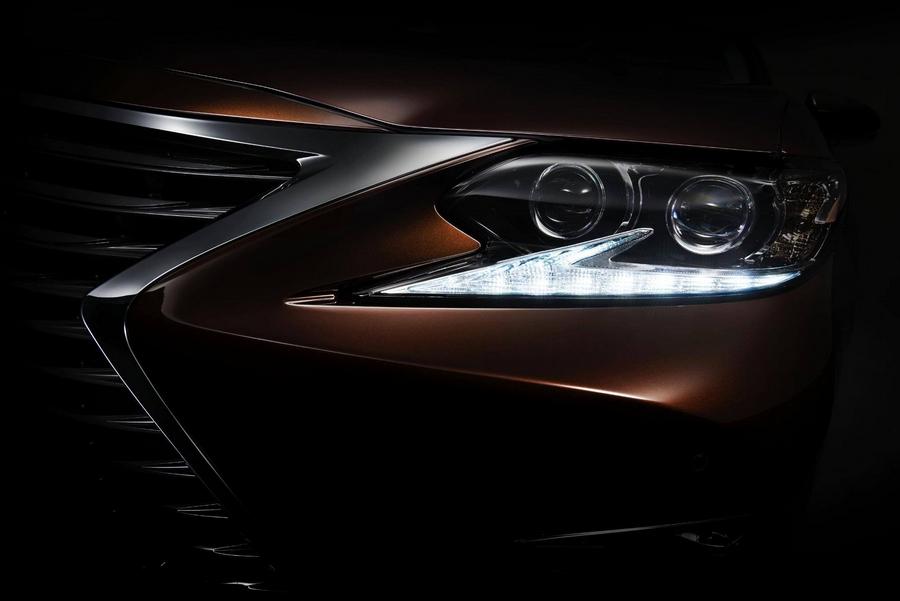 2016 lexus es teaser shot 2015 Shanghai Auto Show