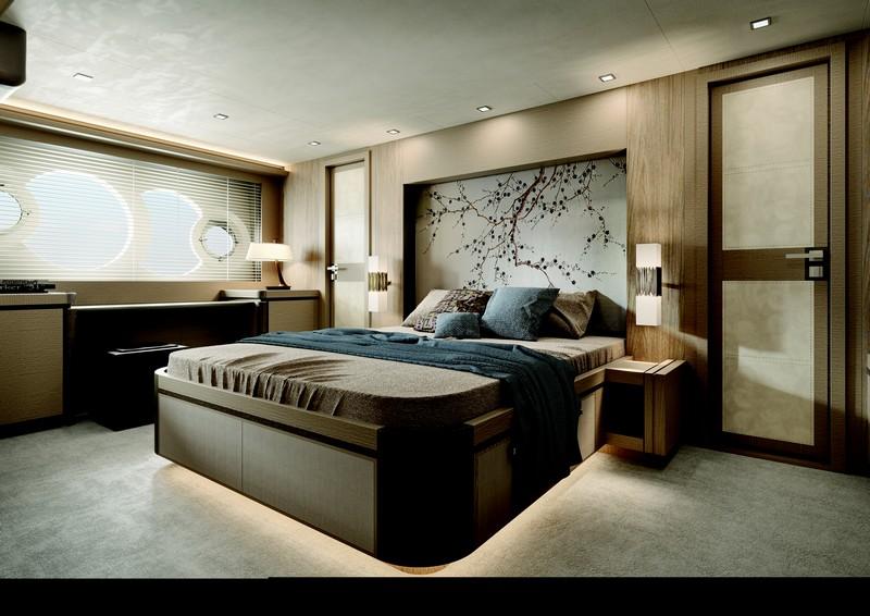 24 meters MCY 80 - interior owner suite