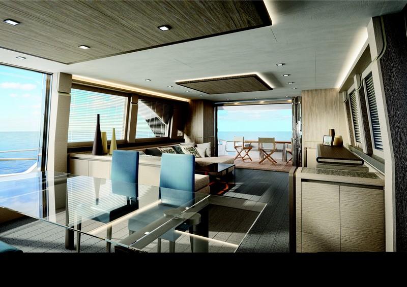 24 meters MCY 80 - interior saloon