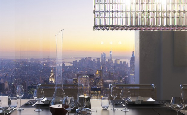 432 Park Avenue tower - Dining room window