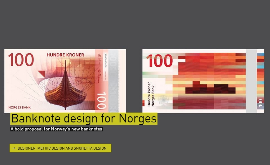 A bold proposal for Norway's new banknotes -Graphic- The Designs of the Year 2015 nominees @ Design Museum London