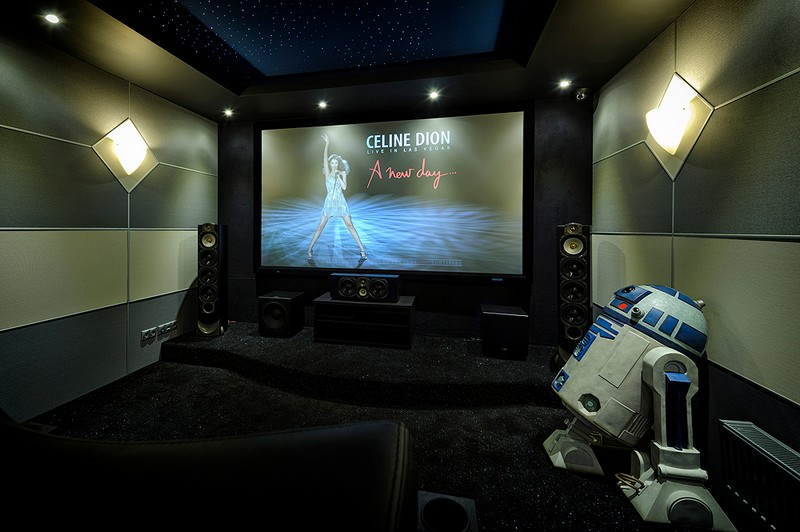 A star ceiling in your home cinema-starscape