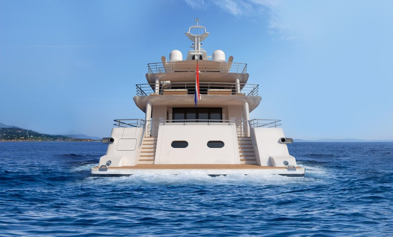 AMELS 188 -57.70 meters yacht - rear view