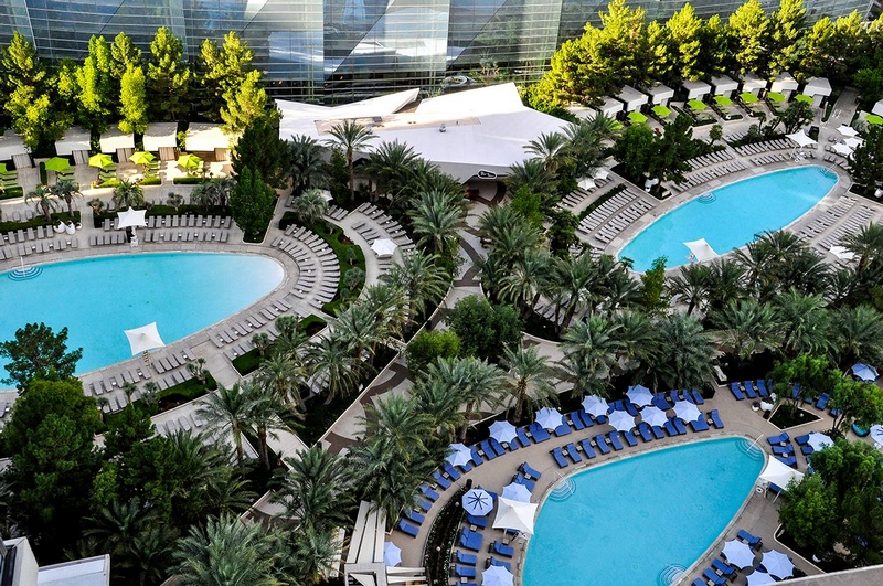ARIA Resort & Casino pools