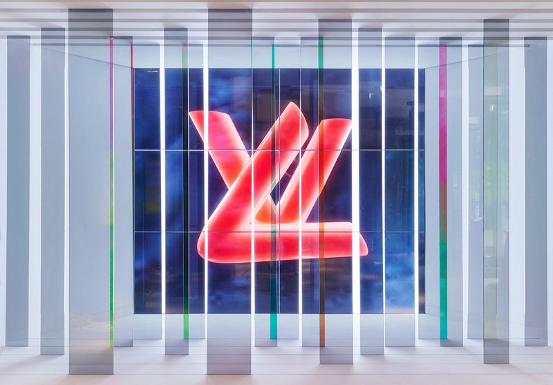 Abstract Logo from the Louis Vuitton Series 3 Exhibition in London