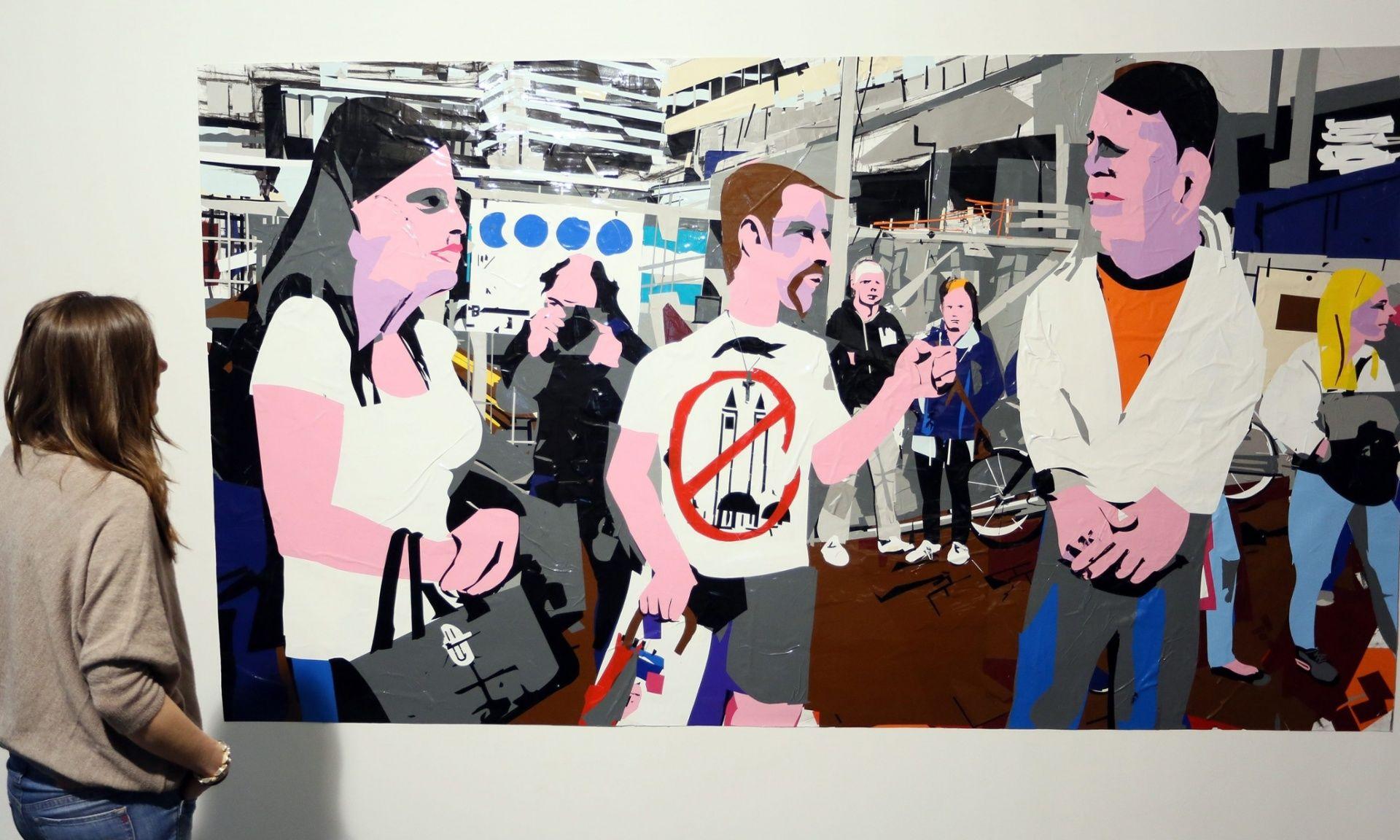 After the Riot II by Erik van Lieshout at the Guido W Baudach gallery during Berlin Gallery Weekend.