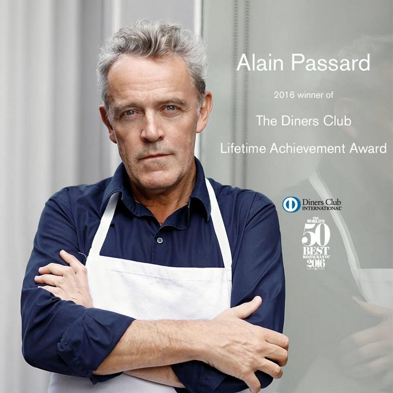 Alain Passard, recipient of The Diners Club Lifetime Achievement Award 2016