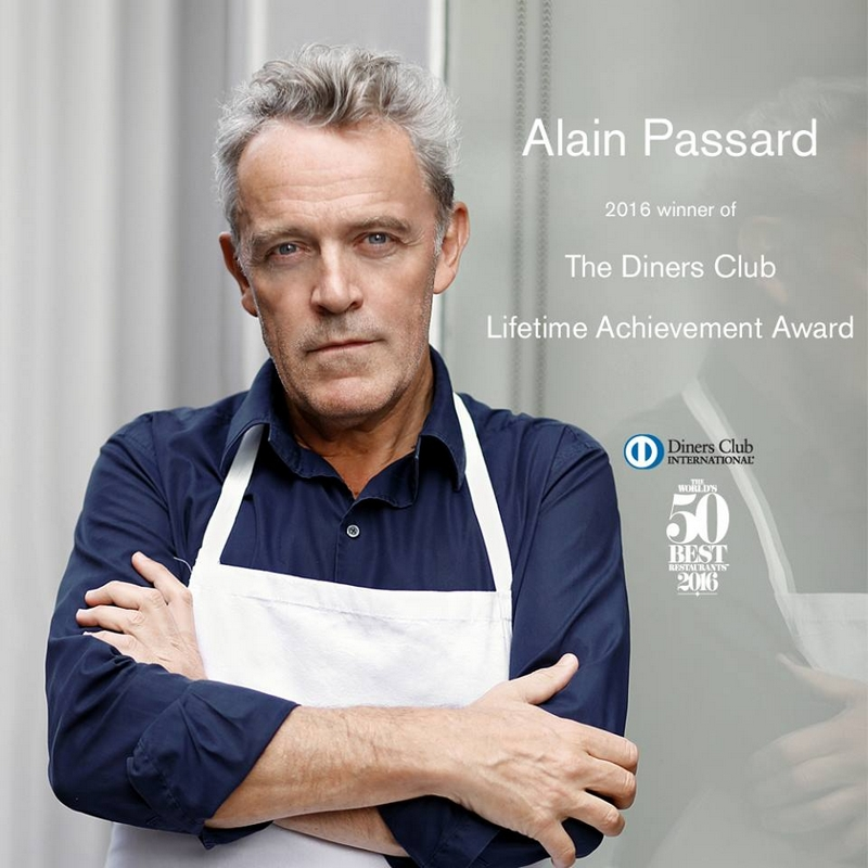 Alain Passard, recipient of The Diners Club Lifetime Achievement Award 2016