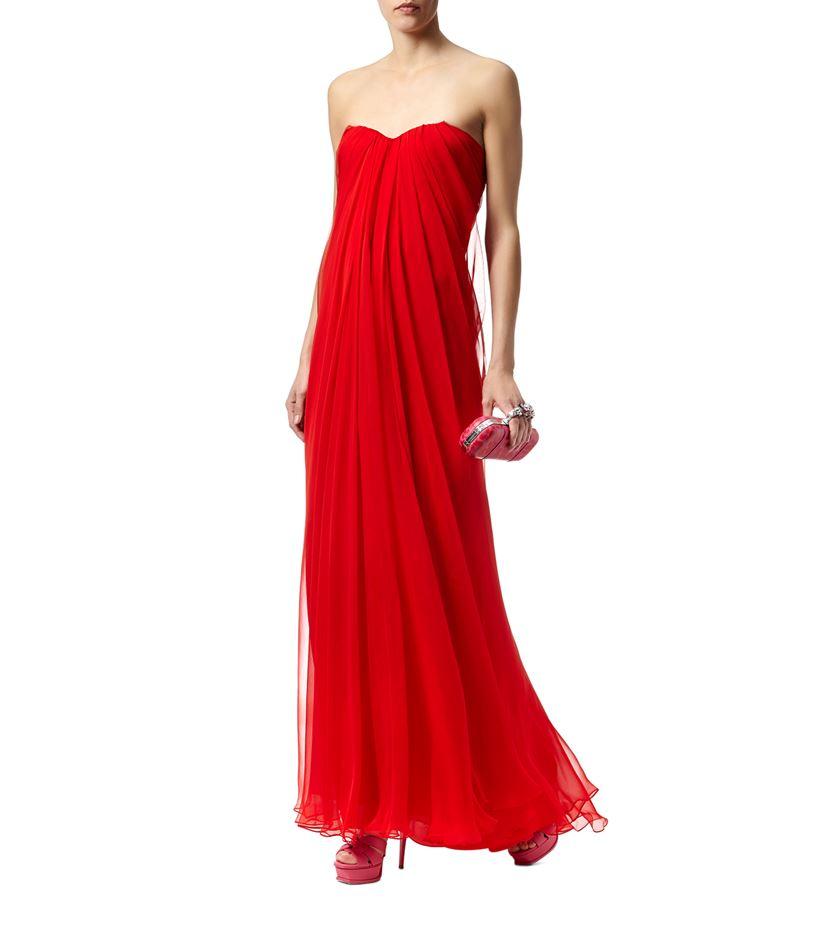 Alexander McQueen Draped Bustier Gown