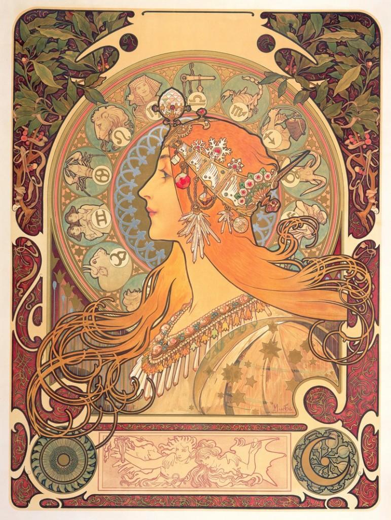Alphonse Mucha, the Art Nouveau inventor - Rome retrospective-Zodiac painting
