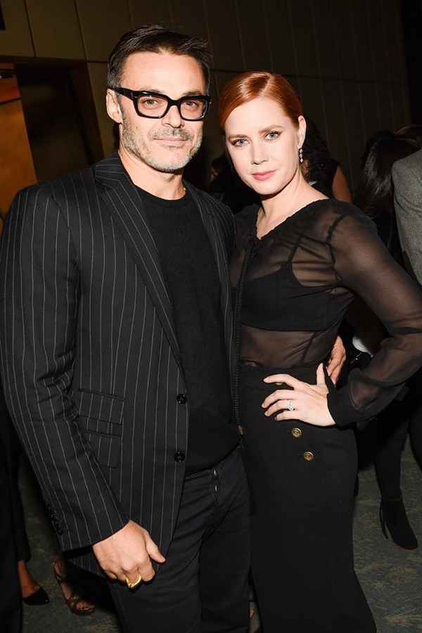 Amy Adams in a MaxMara look with Mario Sorrenti at the A Bag Campaign Launch in NYC