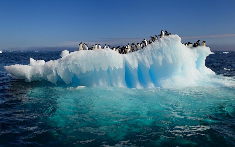 Antarctic ice shelves melting