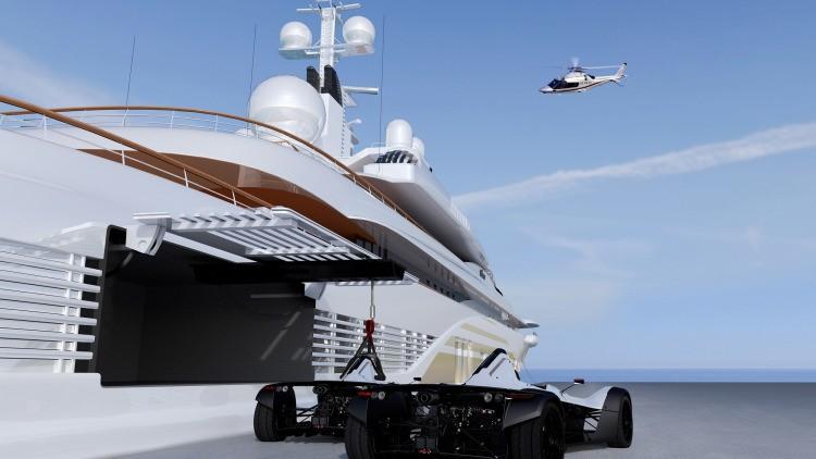 Anti-corrosive 'Marine Edition' BAC Mono - custom designed for life on board the world's premier superyachts