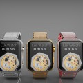 Apple Watch - Brikk Lux Watch Omni collection with 12.3 carats of diamonds each. Platinum, Pink Gold and Yellow Gold. $74,995 each.