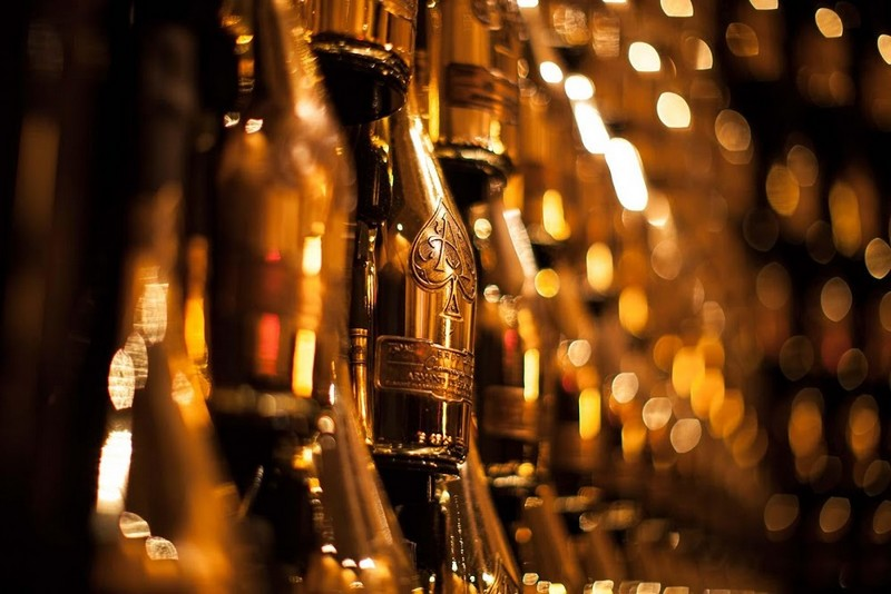 Armand de Brignac champagne cellar