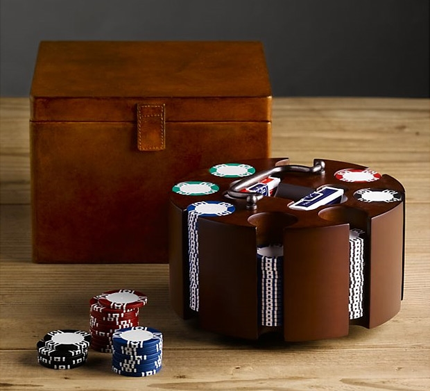 Artisan Leather Poker Set