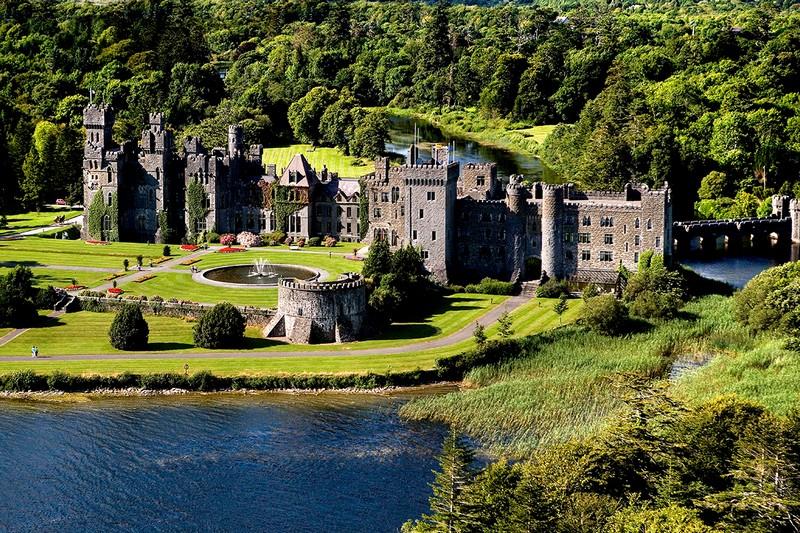 Ashford Castle – Cong, Ireland  aerial view