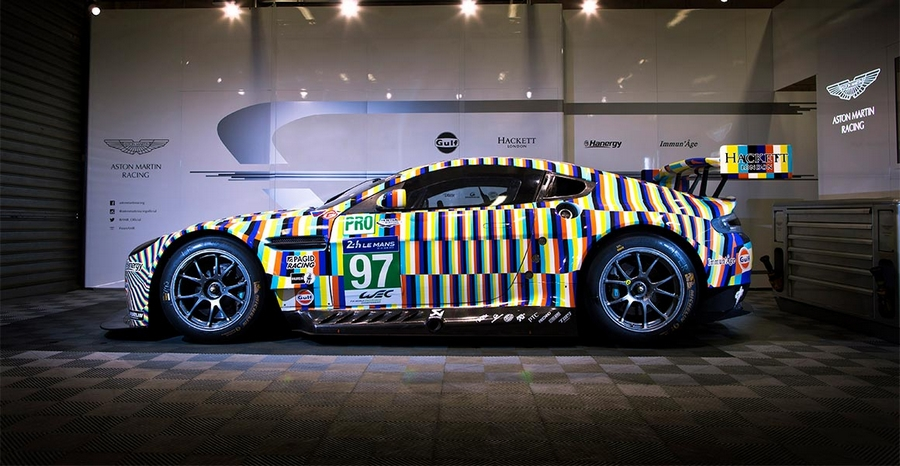 Aston Martin art car 2015 - 24 Hours of Le Mans art Aston Martin designed by Tobias Rehberger
