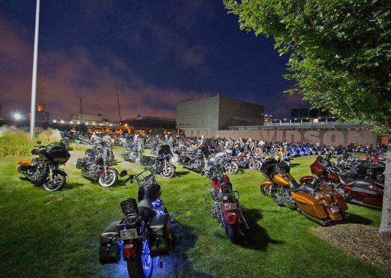 At the Harley-Davidson Museum.