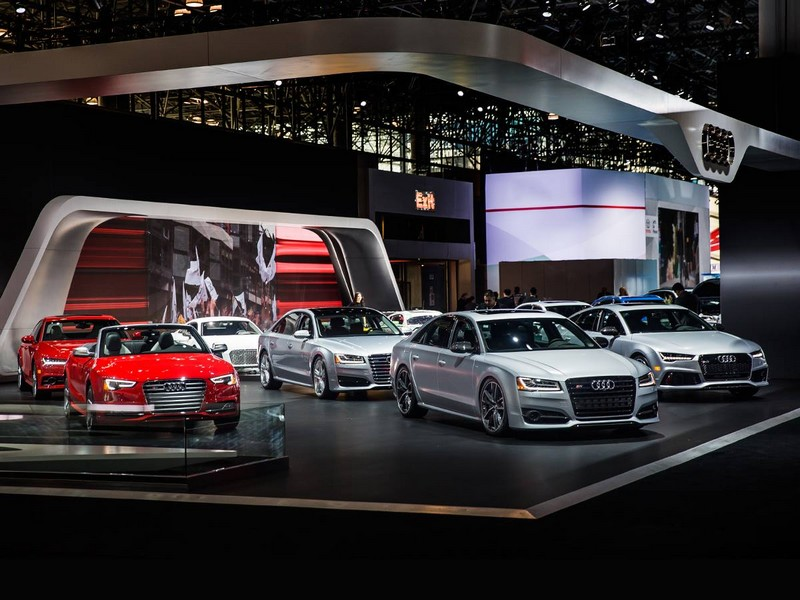 Audi booth at the NYIAS 2016