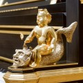Bösendorfer Emperor Concert Grand Hand Carved Gold Plated Cherub Close Up   -World's Most Valuable Luxury Piano, the Museum-grade, one-of-a-kind Bösendorfer