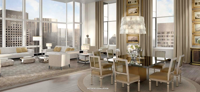 Baccarat Hotel & Residences New York - interior living room