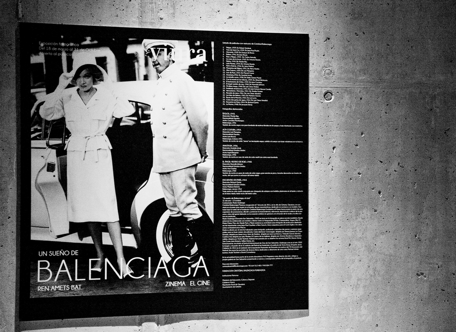 Balenciaga's creations for cinema exibited at Viura Hotel Spain -Hotel Viura in Villabuena de Álava, La Rioja, Spain