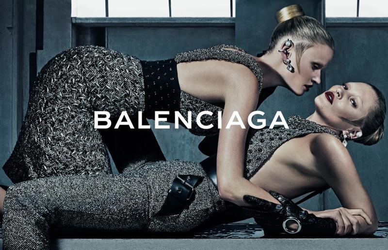 Balenciaga Fall -Winter 2015-2016 campaign-kate moss lara stone