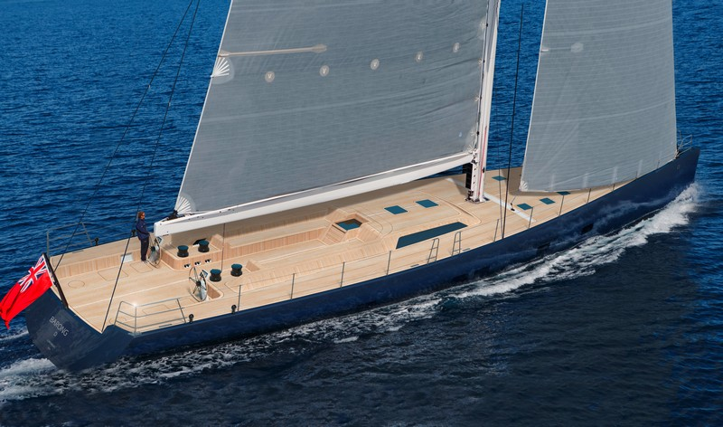 Barong D, the larger evolution of Wally's previous yachts