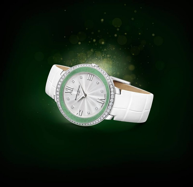 Baume et Mercier limited edition Promesse Jade timepiece, exclusive to Asia.