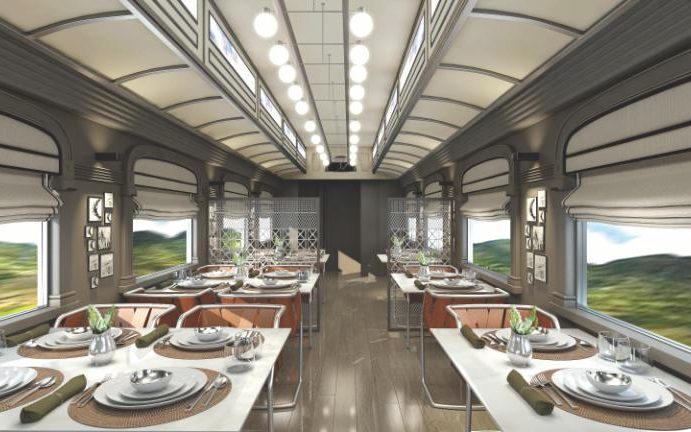Belmond Andean Explorer - Peru's First Luxury Sleeper Train-2017 - one of the restaurants rendering